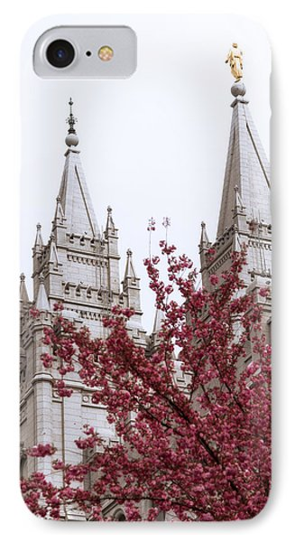Spring At The Temple Phone Case by Chad Dutson