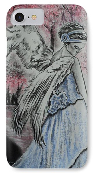 Spring Blossom Angel Phone Case by Carla Carson