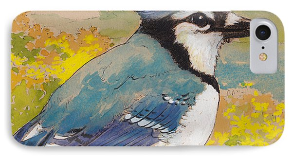 Spring Blue Jay 2 IPhone Case