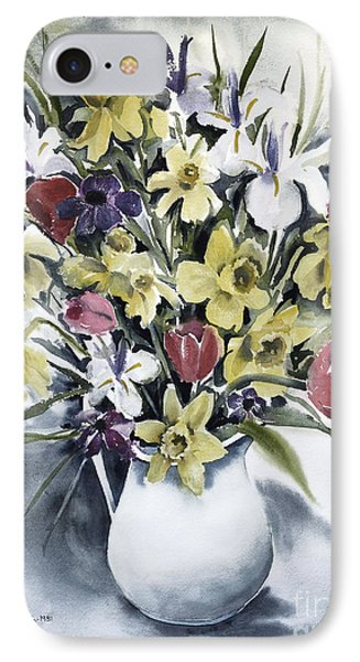 IPhone Case featuring the painting Spring Bouquet by Joan Hartenstein