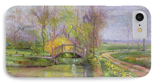 Spring Bridge Phone Case by Timothy  Easton