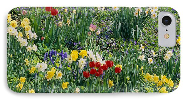 IPhone Case featuring the photograph Spring Bulb Garden by Alan L Graham