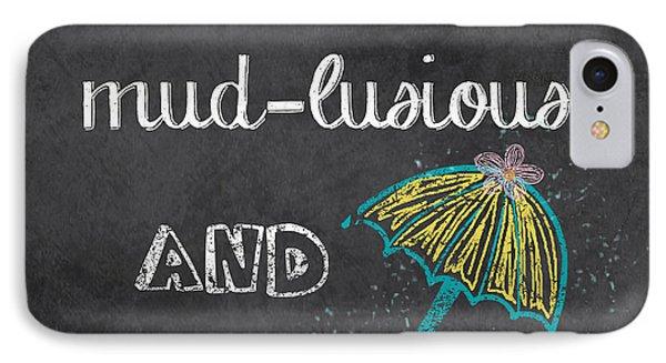Spring Chalkboard Art-3 IPhone Case by Jean Plout