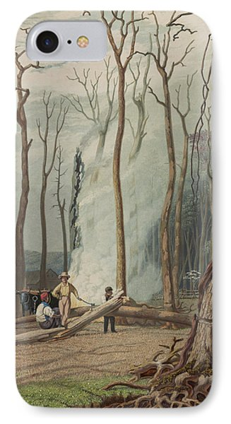Spring Circa 1841 IPhone Case by Aged Pixel
