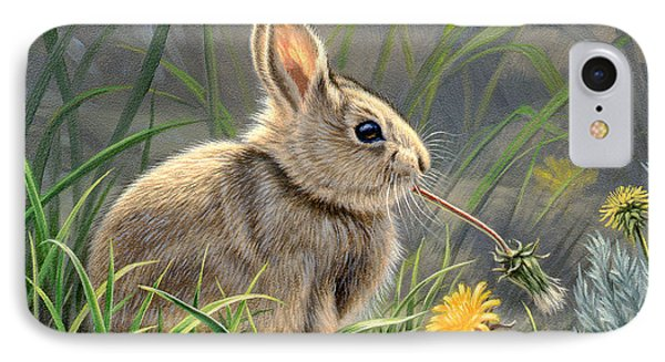 Rabbit iPhone 7 Case - Spring Cottontail by Paul Krapf