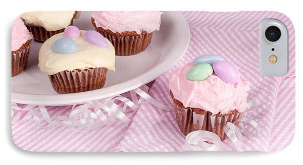 Cupcakes With A Spring Theme IPhone Case by Vizual Studio