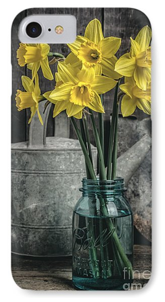 Spring Daffodil Flowers Phone Case by Edward Fielding