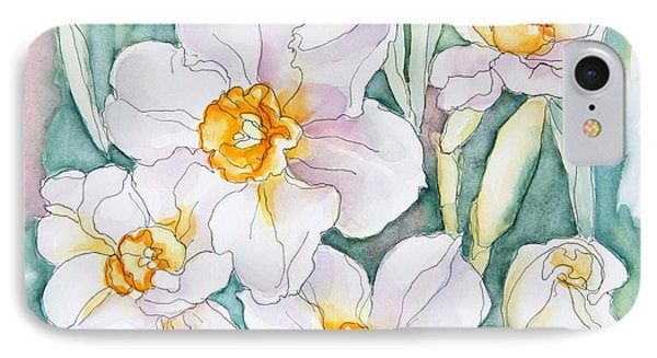 Spring Daffodils IPhone Case by Inese Poga