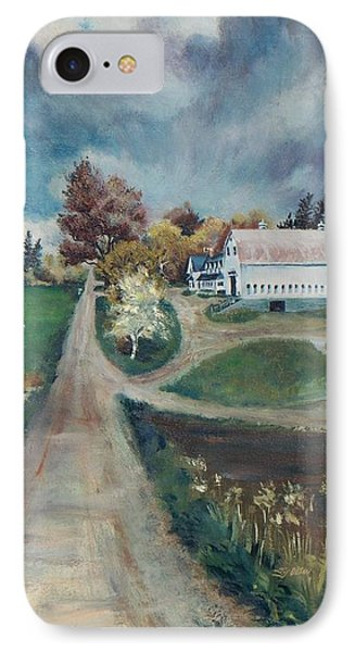 IPhone Case featuring the painting Spring Farm by Joy Nichols