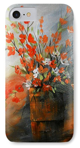 IPhone Case featuring the painting Spring Flower Bouquet by Dorothy Maier