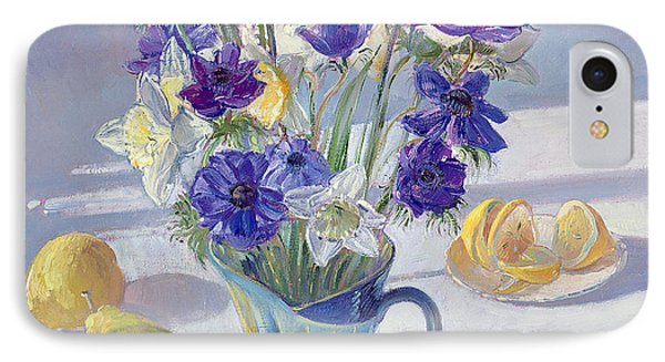 Spring Flowers And Lemons IPhone Case by Timothy  Easton