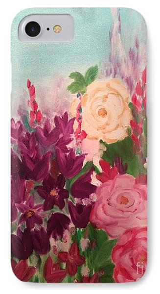 IPhone Case featuring the painting Spring Flowers by Brindha Naveen