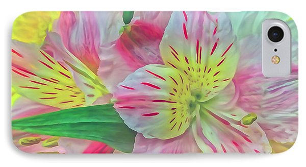 Spring Flowers Digitally Painted IPhone Case by Mikki Cucuzzo