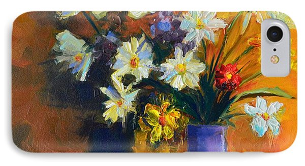 Spring Flowers In A Vase Phone Case by Patricia Awapara