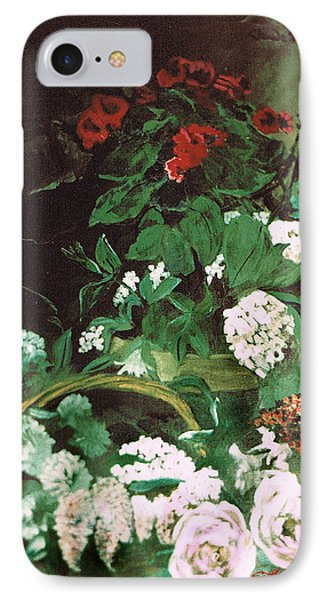 Spring Flowers Study Of Monet IPhone Case by Seth Weaver