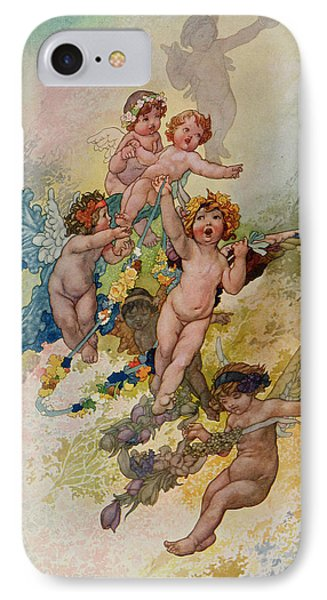 Spring From The Seasons Commissioned For The 1920 Pears Annual Phone Case by Charles Robinson