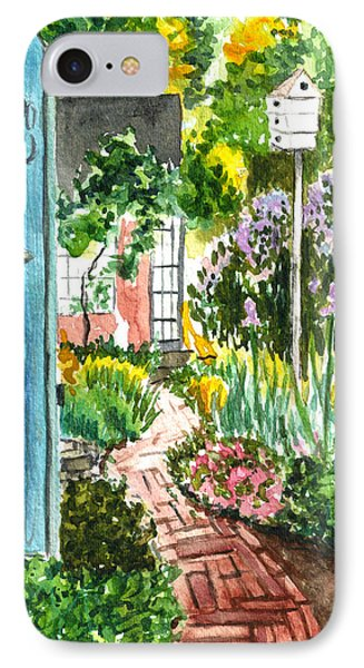 IPhone Case featuring the painting Spring Garden by Clara Sue Beym