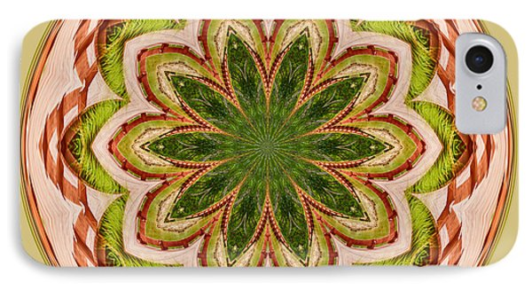 Spring Grasses Mandala IPhone Case by Bill Barber