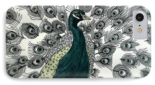 Spring Green Peacock IPhone Case by Megan Dirsa-DuBois