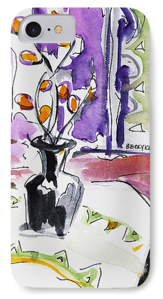 IPhone Case featuring the painting Spring Has Arrived by Becky Kim