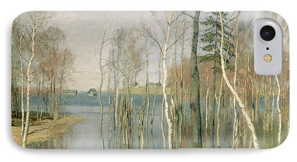 Spring High Water IPhone Case by isaak Ilyich Levitan