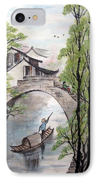 Spring In Ancient Watertown IPhone Case by Yufeng Wang