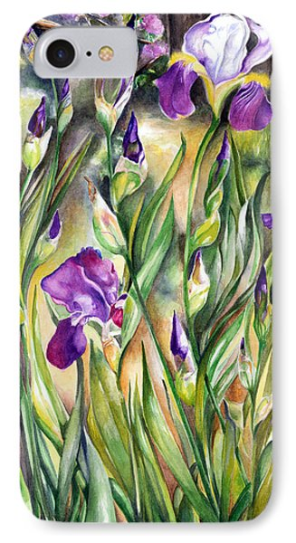 IPhone Case featuring the painting Spring Iris by Nadine Dennis