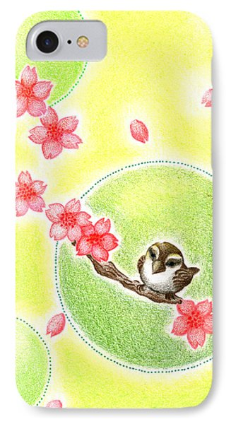IPhone Case featuring the drawing Spring by Keiko Katsuta
