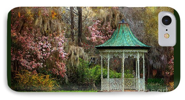 IPhone Case featuring the photograph Spring Magnolia Garden At Magnolia Plantation by Kathy Baccari