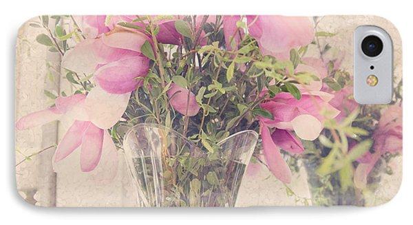 Spring Magnolias IPhone Case by Sally Simon
