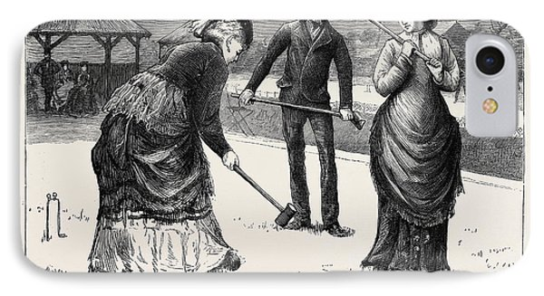 Spring Meeting Of The All England Croquet Club At Wimbledon IPhone Case