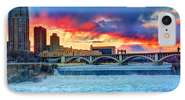 Spring Melt On The Mississippi Phone Case by Amanda Stadther