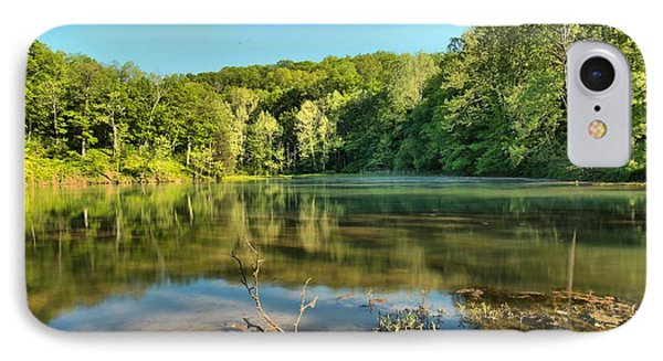 Spring Mill Lake IPhone Case by Adam Jewell