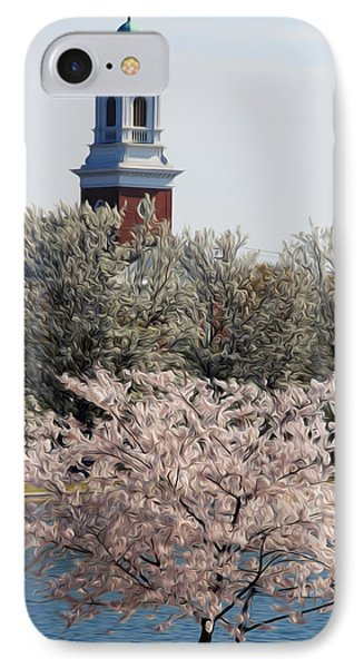 IPhone Case featuring the digital art Spring On Fountain Lake by Kelvin Booker