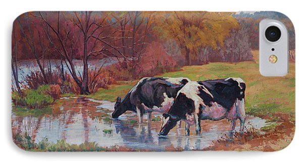 Spring Pastoral IPhone Case by Keith Burgess