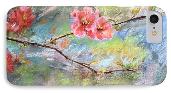 IPhone Case featuring the painting Spring Peach Blosom by Jieming Wang