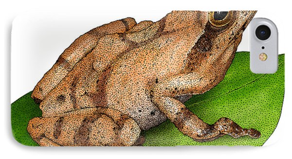 Spring Peeper IPhone Case by Roger Hall