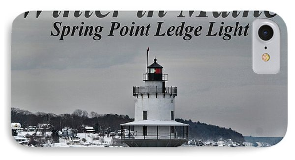 Spring Point Ledge Light_9969a IPhone Case by Joseph Marquis