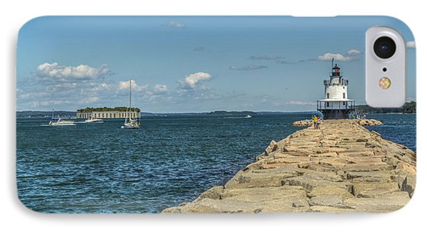 IPhone Case featuring the photograph Spring Point Ledge Lighthouse by Jane Luxton