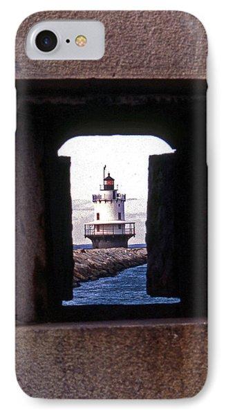 Spring Point Ledge Lightouse Phone Case by Skip Willits
