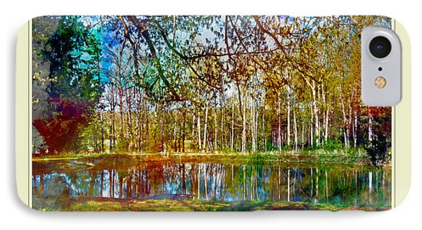 Spring Pond Photoart Father's Day Phone Case by Debbie Portwood