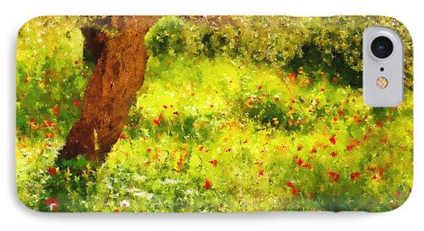 Spring Poppies Impressionism IPhone Case by Georgiana Romanovna