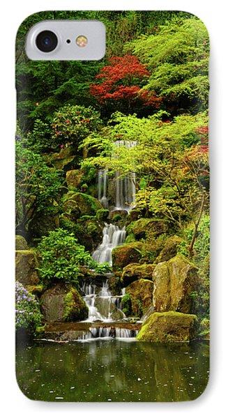 Spring, Portland Japanese Garden IPhone Case by Michel Hersen