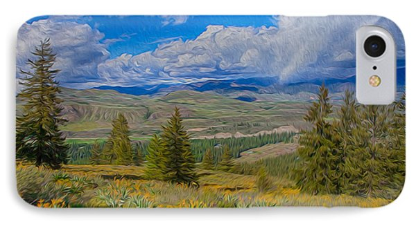 Spring Rain Across A Valley Phone Case by Omaste Witkowski