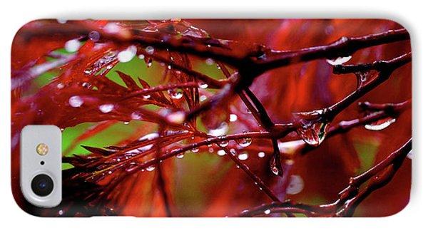 Spring Rain Phone Case by Rona Black