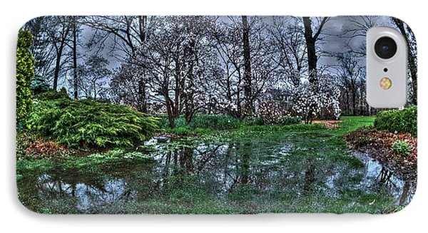 Spring Rains In The Garden IPhone Case by Kimberleigh Ladd