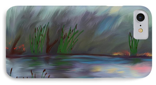 Spring Reed In The Canyon Phone Case by Angela A Stanton