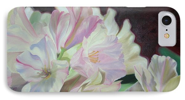 IPhone Case featuring the painting Spring Rhodys by Nancy Jolley