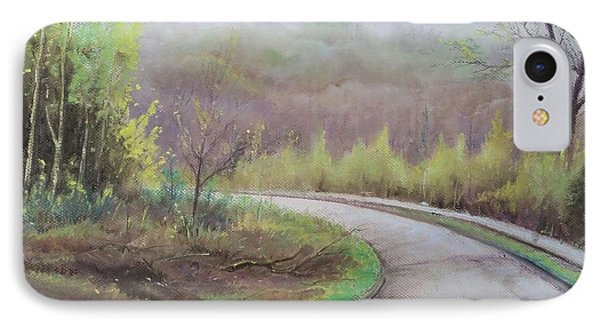 IPhone Case featuring the painting Spring Road by Rose Wang