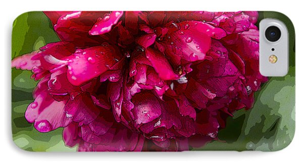 Spring Shower Peony 2 IPhone Case by Jeanette French